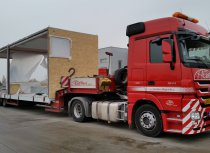 3-axle extendable semi low-bed trailer